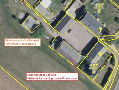 Eine Luftbildaufnahme ersetzt keine Gebäudeeinmessung